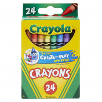BIN3024 - Crayola Crayons 24 Color Peggable in Crayons