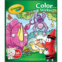 Color & Sticker Book, Jungle Animals - BIN40216 | Crayola Llc | Art Activity Books