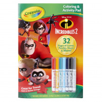 Coloring & Activity Pad w/Markers, Incredibles 2 - BIN40355 | Crayola Llc | Art Activity Books