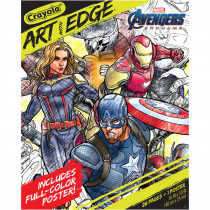 Art with Edge, Marvel Avengers Infinity Wars, 28 Coloring Pages + 1 Poster - BIN40489 | Crayola Llc | Art Activity Books
