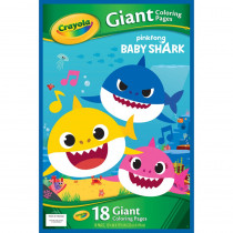 Giant Coloring Pages, Baby Shark - BIN40936 | Crayola Llc | Art Activity Books