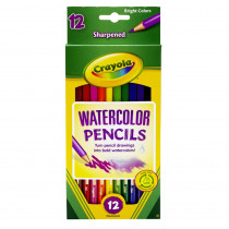 BIN4302 - Watercolor Pencils 12Ct Full Length in Colored Pencils