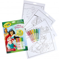 Coloring & Activity Pad with Markers, Disney Princess - BIN45807 | Crayola Llc | Art Activity Books