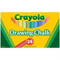 BIN510404 - Crayola Colored Drawing Chalk 24Pk in Chalk