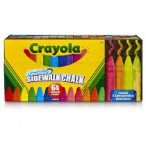 BIN512064 - Crayola Wash Sidewalk Chalk 64Pk in General