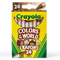 Colors of the World Crayons, 24 Colors - BIN520108 | Crayola Llc | Crayons