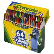 Ultra-Clean Washable Crayons - Regular Size, Pack of 64 - BIN523287 | Crayola Llc | Crayons