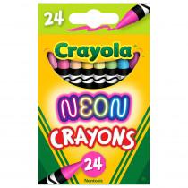 Neon Crayons, 24 Colors - BIN523410 | Crayola Llc | Crayons