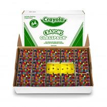 BIN528019 - Crayola Crayons 64 Color Classpack 832 Cnt in Crayons