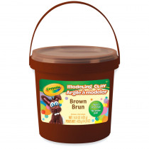BIN571307 - 1 Lb Bucket Modeling Clay Brown in Clay & Clay Tools