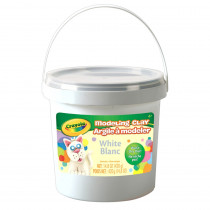 BIN571353 - 1 Lb Bucket Modeling Clay White in Clay & Clay Tools