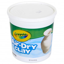 BIN575055 - Crayola Air Dry Clay 5 Lbs White in Clay & Clay Tools