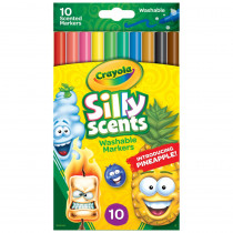 BIN585071 - Crayola Silly Scnt 10Pk Slim Marker Washable in Markers