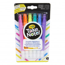 Take Note! Erasable Highlighters, Pack of 6 - BIN586504 | Crayola Llc | Highlighters