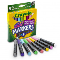 BIN588163 - Crayola 8Ct Gel Fx Washable Markers in Markers
