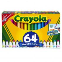 BIN588180 - Crayola Wash Broad Line Marker 64Pk in General