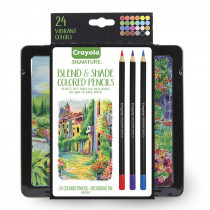 Signature Blend & Shade Colored Pencils in Tin, Pack of 24 - BIN682015 | Crayola Llc | Colored Pencils