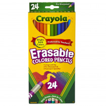 BIN682424 - 24 Ct Erasable Colored Pencils in Colored Pencils