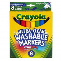 BIN7208 - Wedge Tip 8 Ct Washable Markers in Markers