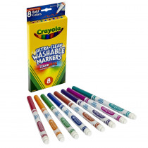 BIN7836 - Washable Markers 8Ct Bold Colors Fine Tip in Markers