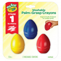 BIN811450 - Washable Palmgrasp Crayons 3 Pk My First Crayola in Crayons