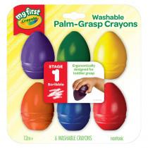 BIN811451 - Washable Palmgrasp Crayons 6 Pk in Crayons