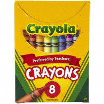 BIN8 - Crayola Regular Size 8 Colors in Crayons