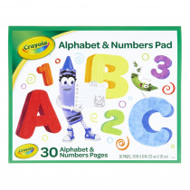 Alphabet & Numbers Pad - BIN993406 | Crayola Llc | Note Books & Pads