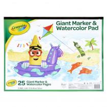 Giant Marker & Watercolor Pad - BIN993411 | Crayola Llc | Sketch Pads
