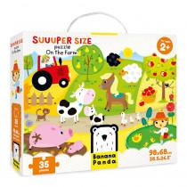 Suuuper Size Puzzle On the Farm - BPN33676 | Banana Panda | Floor Puzzles