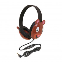 CAF2810BE - Listening First Animal-Themed Stereo Headphones Bear in Headphones