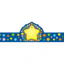 CD-0234 - Rainbow Star Crowns 30/Pk in Crowns