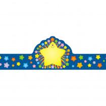 CD-0234 - Rainbow Star Crowns 30/Pk in Crowns
