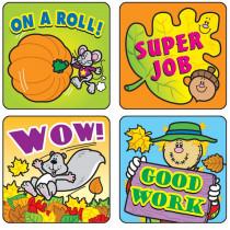 CD-0613 - Stickers Fall Fun 120/Pk Acid & Lignin Free in Holiday/seasonal