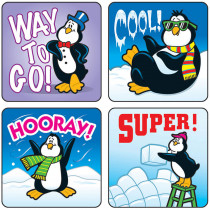 CD-0624 - Stickers Penguins 120/Pk Acid & Lignin Free in Holiday/seasonal