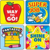CD-0648 - Stickers Winning Words 120/Pk Acid Lignin Free in Motivational