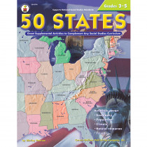CD-0774 - 50 States 176 Pages Gr 3-5 in States & Capitals