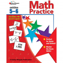 CD-104322 - Math Practice Gr 5-6 W/Flash Cards in Activity Books