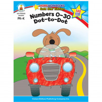 CD-104332 - Numbers 0-30 Dot To Dot Home Workbook Gr Pk-K in Numeration