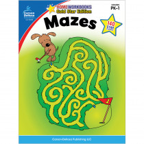 CD-104338 - Mazes Home Workbook Gr Pk-1 in Skill Builders