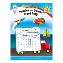 CD-104351 - Puzzles & Games Word Play Home Workbook Gr K-1 in Word Skills