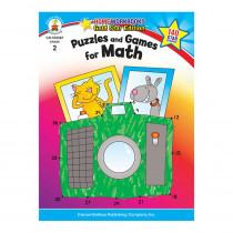 CD-104367 - Puzzles & Games For Math Home Workbook Gr 2 in Activity Books