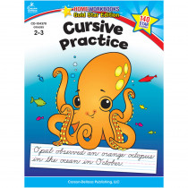 CD-104370 - Cursive Practice Home Workbook Gr 2-3 in Handwriting Skills