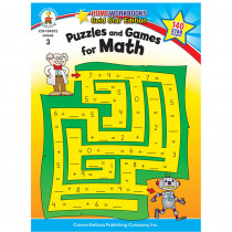 CD-104372 - Puzzles & Games For Math Home Workbook Gr 3 in Activity Books