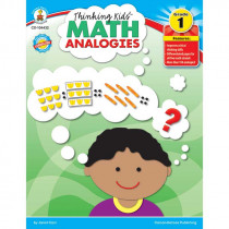 CD-104432 - Thinking Kids Math Analogies Gr 1 in Books