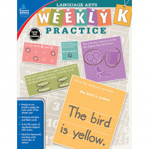 CD-104874 - Weekly Practice Language Arts Gr K in Activities