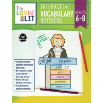 CD-105003 - Im Lovin Lit Vocab Notebook Gr 6-8 Interactive in Vocabulary Skills