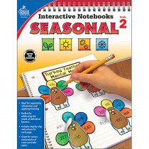 CD-105015 - Interactive Notebooks Seasonal Gr 2 in Cross-curriculum Resources