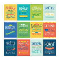 Mini Posters: Positive Character Traits Poster Set, 12 Pieces - CD-106010 | Carson Dellosa Education | Classroom Theme
