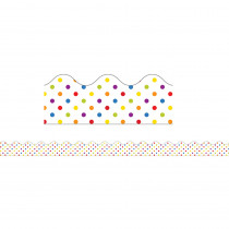CD-108237 - Super Power Rainbow Dots Scalloped Borders in Border/trimmer